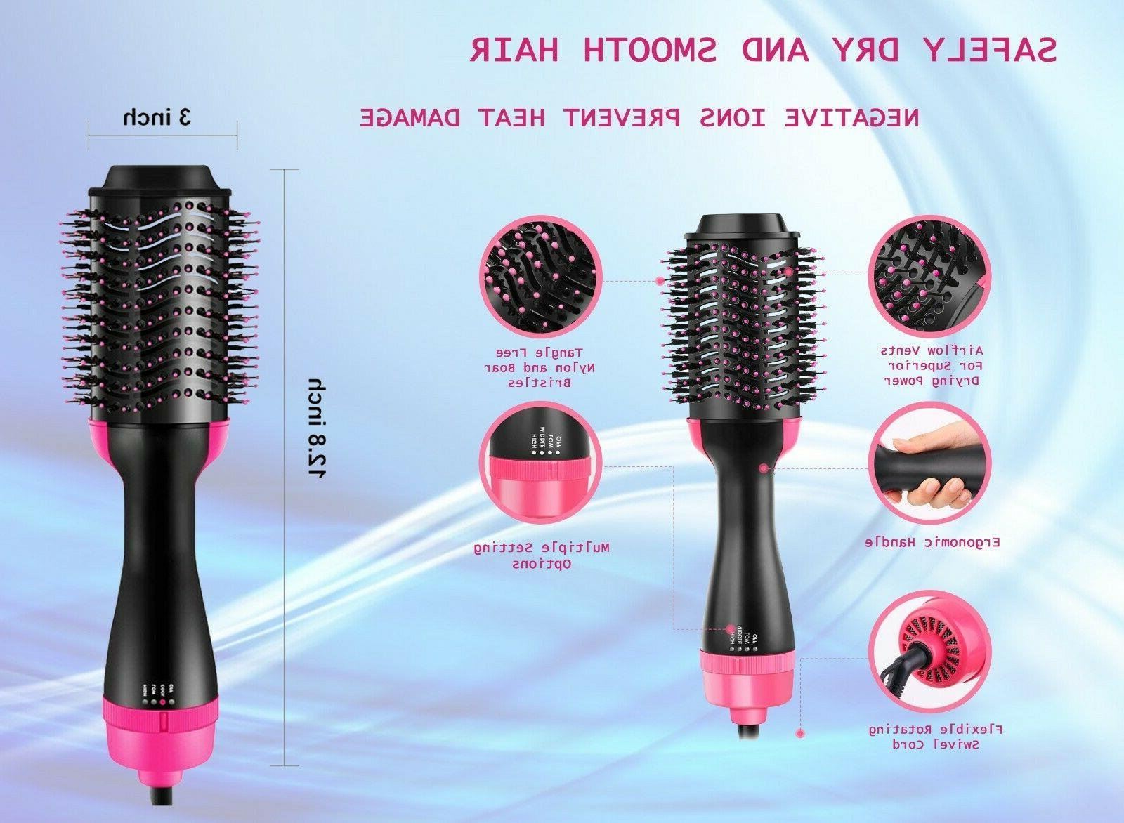 Hot Air Hair Dryer Negative Ion styling Brush Eleven11