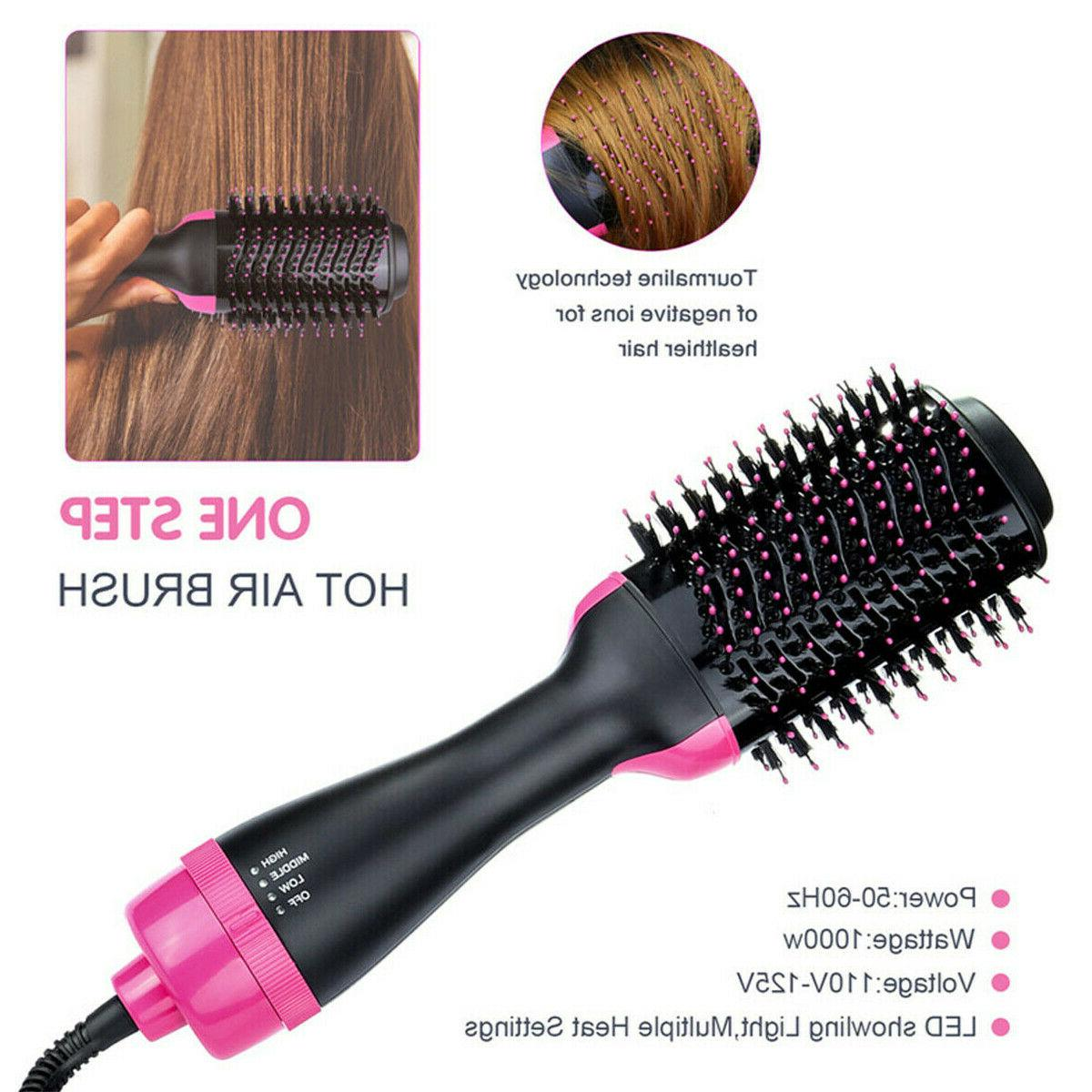 Hot Hair Brush One Step Volumizer With Ion Blow Dryer Styling