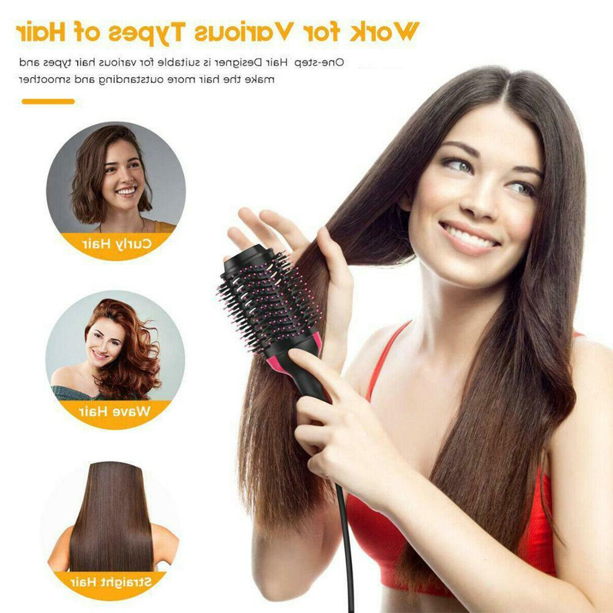 Hot Air Hair Dryer Brush With Negative Ion Dryer