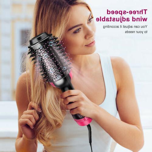 3in1 Hair Blow Brush Comb Hot Air Tool Beauty