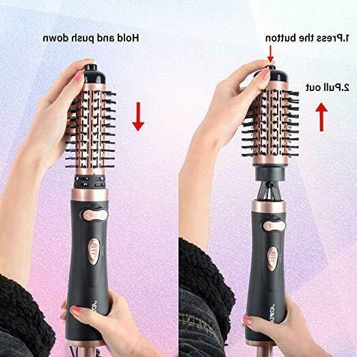 Hot Air Spin 1000W 3-in-1 Brush for Styling & Frizz Control Auto-rotating