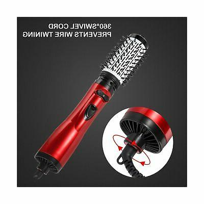 Hot Air Spin Brush, AOIEORD Step Dryer Styler, Det...