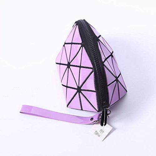 Fashion Isey Miyake Leather Bag MakeUp Storage Bag Bolsa Neceser