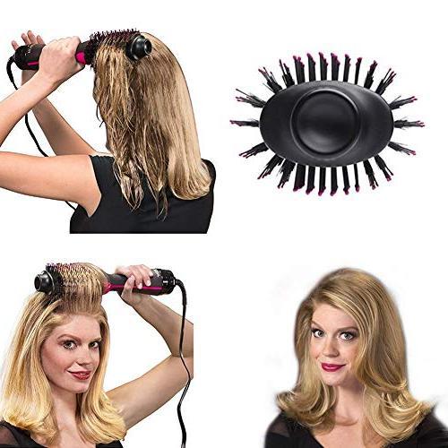 Multi-Function Hot Air Negative Ion Hair Brush Hot Air Straightener Volumizer Comb Dual-use Hair Dryer Shape Comb