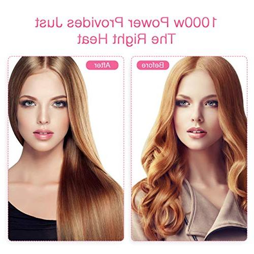 One Air Brush, IN 1 Hair with Straightening, Drying, 2 Speed Hot Setting, Salon Styling for Type with Anti-Scald