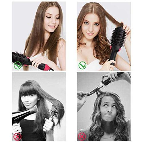 Hot Step Hair Dryer Styler High-power Salon Ion Straightener Curly Comb All Hair Anti-Scald
