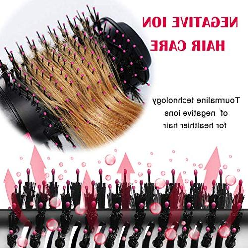 One Step Hair Hot Air Brush Hair for All - Black