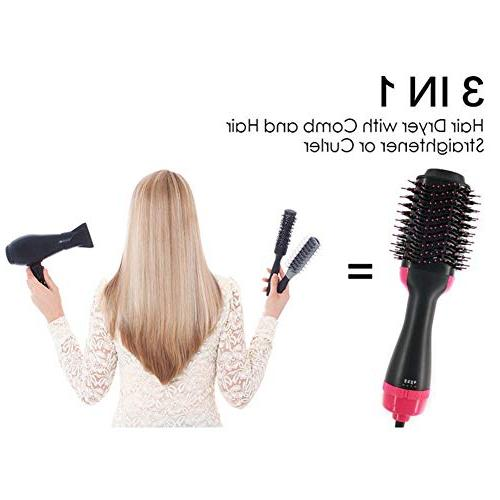 One Step Hot Air with Ion Generator Hair Volumizer Comb High-Power Curly Hair Brush Dryer Straightener for Women