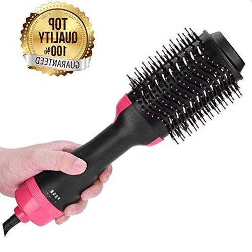 One Styler Volumizer,Professional Air Dryer Negative Ion Straightener Brush Dryer Comb All Type Anti-Scald Feature