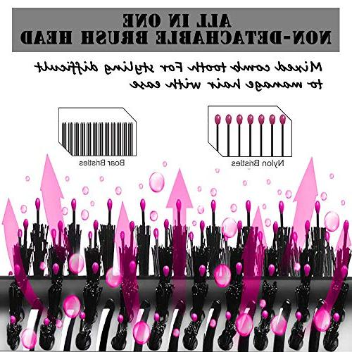 MIXSE Hair Dryer Hair Brush in One Salon Multifunctional Hot Brush Comb 5PCS Hair For