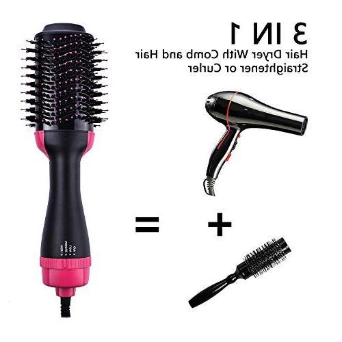 One Step Hot Dryer & Volumizer Negative Ion Straightening Salon Comb Reduce Static hair