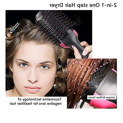 One Step Hair,Professional Hot Air Dryer Negative Ion Salon Comb Frizz and Static Suitable for All hair