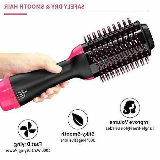 One Dryer Air Volumizer Brush Curling Iron Comb