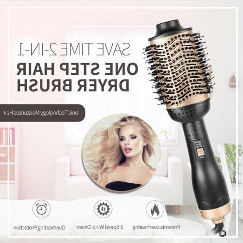 One Step Hair Dryer Brush Volumizer Ionic Hair Curler Straig