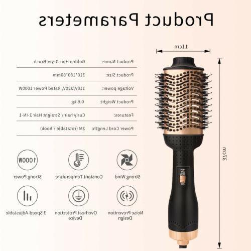 One Hair Dryer Volumizer Ionic Curler Brush