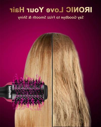 One Step Hair and - iMethod 2-in-1 Ceramic Hot Brush Styler