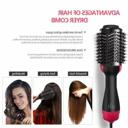 One Step Hair Dryer & 1 Hot Air Comb Straightening Curling