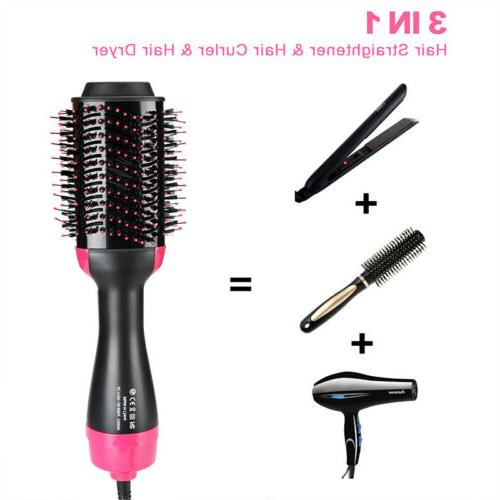 One Step Hair Dryer and Volumizer Brush Straightening Curlin