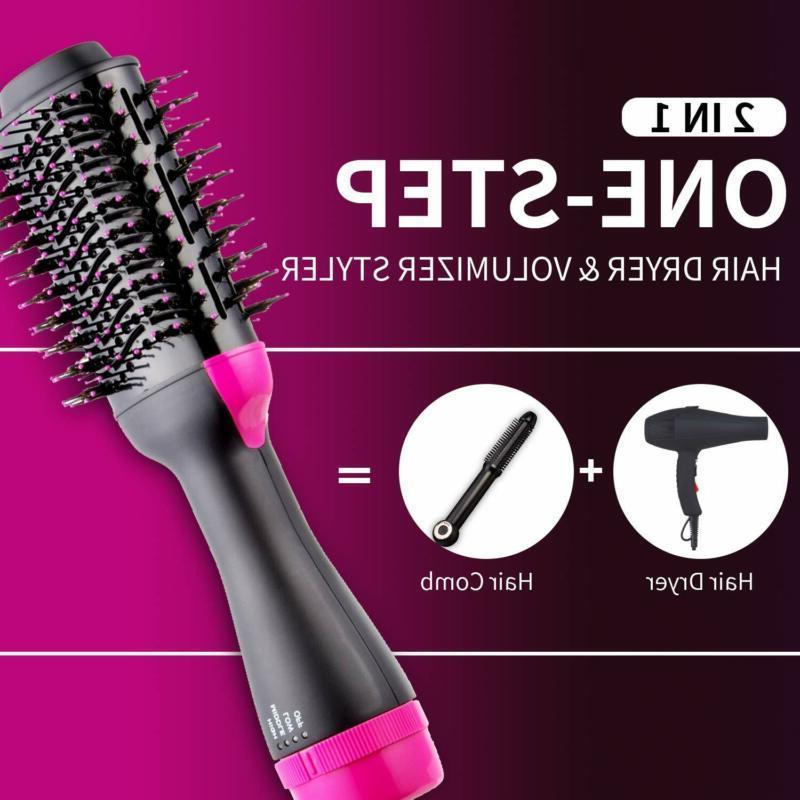 One Hair Dryer Volumizer Air Straightening Comb