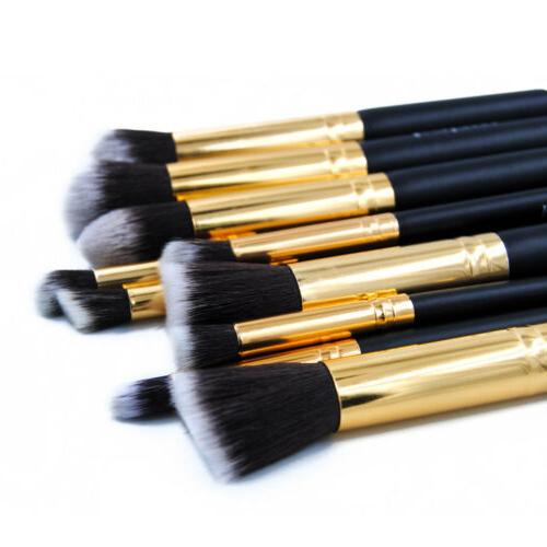 Pro 10pcs Powder Brushes Kit