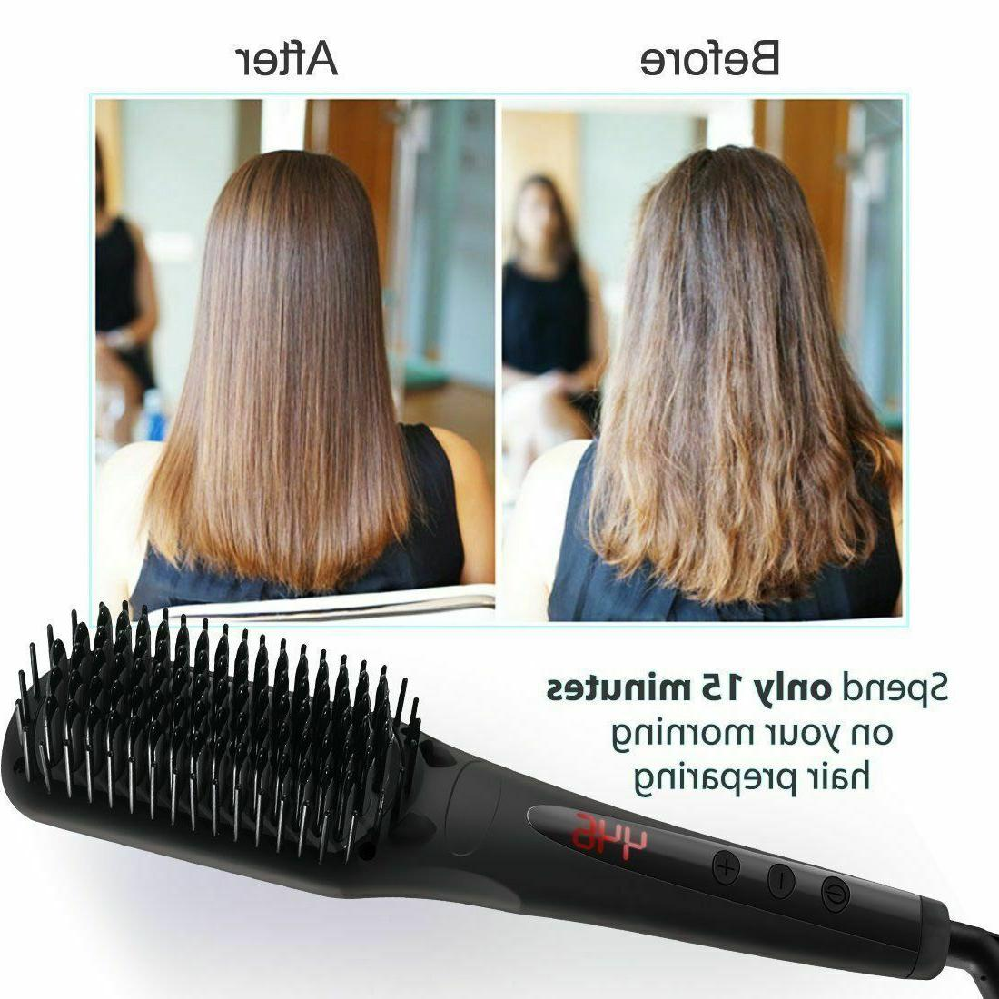 Silky Comb Heating Electric Brush