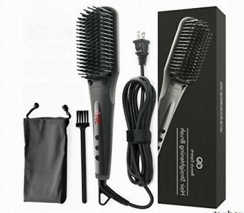 straightener brush comb anion spray ceramic heating