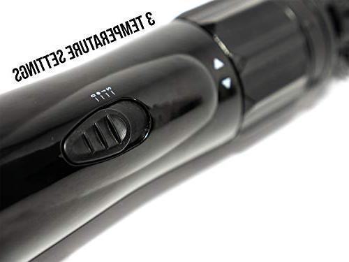 TRU BEAUTY Rotating Air Brush, Hair Styler, 1.5-inch Barrel, Titanium -