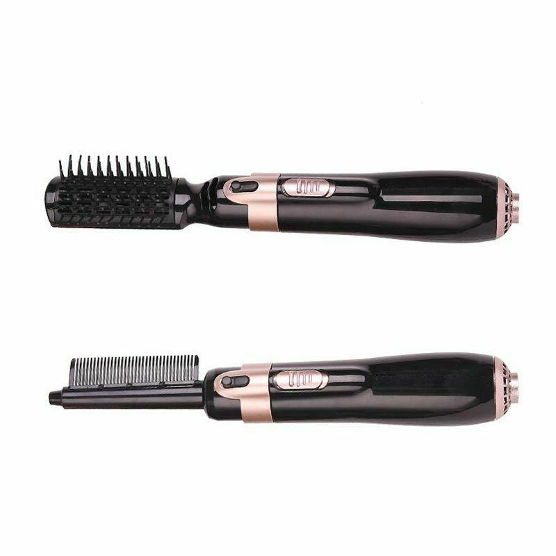 US 4 Hair Dryer and Brush Hot Comb Straightening Curling Iron