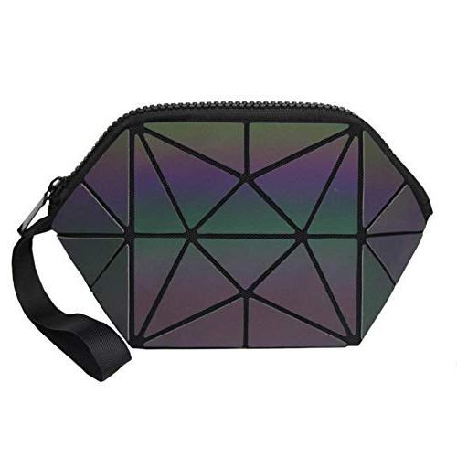 New Women Cosmetic Bag Geometric Bag Toiletry Beauty Case Make