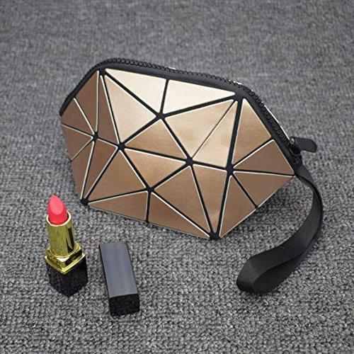 zipper bag geometric luminous