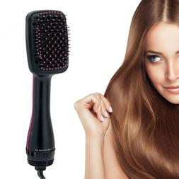 Multi-function blowing Hot air brush dry hair comb artifact