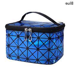 New Ladies Multifunctional Cosmetic Bag Flash Diamond Leathe