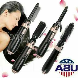 New 4 In 1 Hair Dryer Straightener Curling Iron Negative Bru