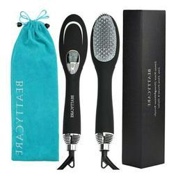 New Hair Straightening Brush 2-in-1 Ionic Hot Air Dryer Styl