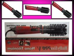 "NEW! BABYLISS PRO V NANO TITANIUM 2"" BARREL ROTATING HOT AIR"