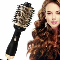 One Step Hair Brush Dryer Volumizer Ionic Hair Curler Straig