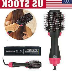 Pro Salon One-Step Hair Dryer & Volumizer Hot Air Brush Pink