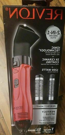 Revlon Shine Hair Hot Air Curling Iron Brush Styler 1200w Bl