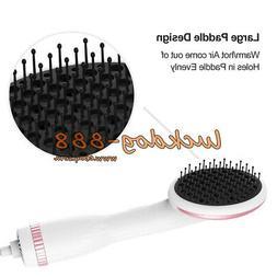 White One Step Hair Dryer & Styler Hot Air Paddle Brush Hair